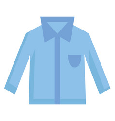 simple light blue shirt with blue pocket and vector image