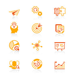 startup business icons - juicy series vector image