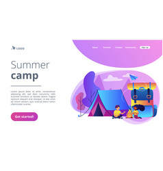 summer camp concept landing page vector image