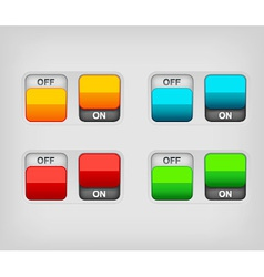 switch on off vector image vector image