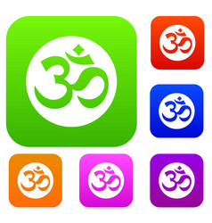 Symbol aum set collection vector