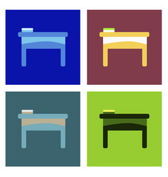 The table icon workplace and job office working vector