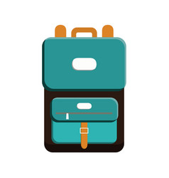 Travel backpack icon vector