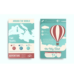 Travel flyer set vector