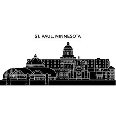 Usa st paul minnesota architecture city vector