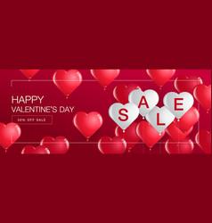 Valentines day saletemplate bannerhearts vector