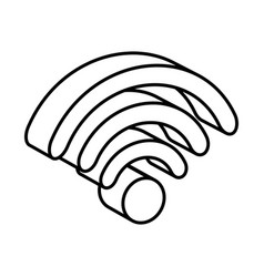 Wifi signal isometric icon vector