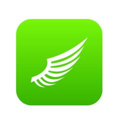 Wing icon digital green vector