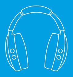 Wireless headphones icon outline style vector