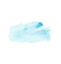 abstract blue watercolor stain vector image vector image