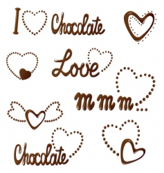 all about love and chocolate vector image