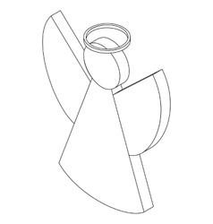 Angel icon isometric 3d vector image