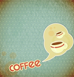 coffee cups and lettering Coffee vector image vector image