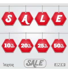 Discount text vector image vector image
