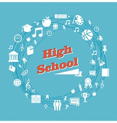 Education high school icons vector image vector image