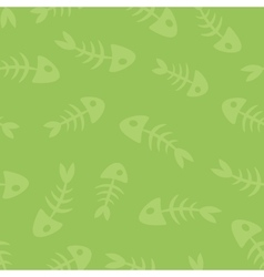 fish bones seamless pattern vector image vector image