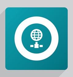 flat internet icon vector image