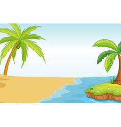 Palm beach background vector image vector image