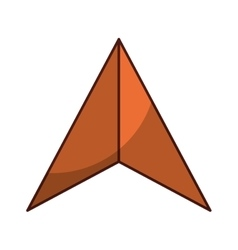 arrow pointer isolated icon vector image vector image