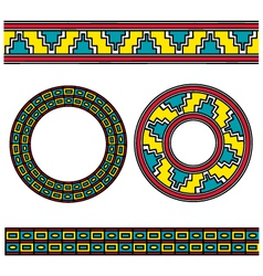 assyrian ornament vector image vector image