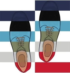 Advertising mens shoes The color palette is the vector image vector image