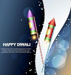 diwali festival crackers vector image vector image