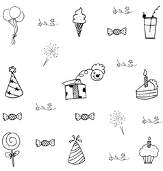 Element doodle of party for kids vector image vector image