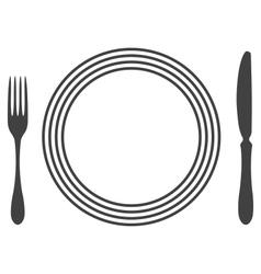 Etiquette Proper Table Setting vector image