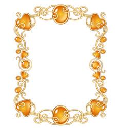 fantasy jewel frame template vector image