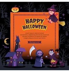 happy halloween party background vector image