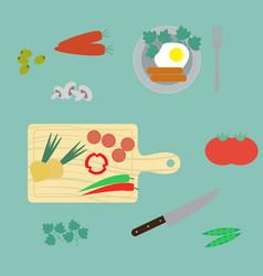 Healthy breakfast flat style vector