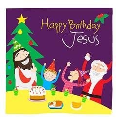 template Christmas2 vector image