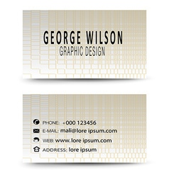 Business card gold vector image vector image