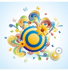 Creative funky background vector image vector image