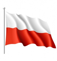 flag of Poland vector image vector image