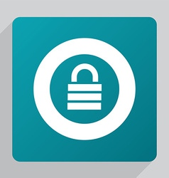 flat lock icon vector image vector image