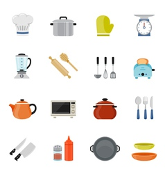 Kitchenware full color flat design icon vector image vector image