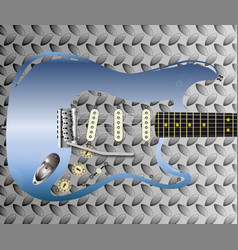 metal tone guitar vector image vector image