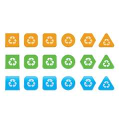 set of recycle icons vector image
