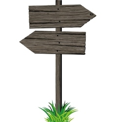 Wooden arrows road sign vector image