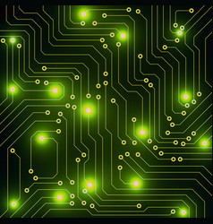 abstract circuit board technology background vector image