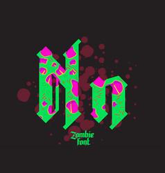 acid zombie gothic font vector image