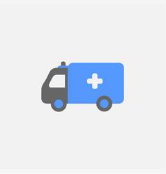ambulance flat icon isolated on white background vector image