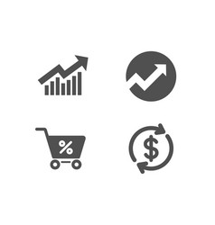 Audit demand curve and special offer icons usd vector