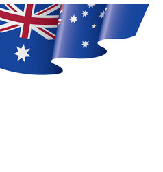 australia flag on a white vector image