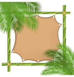 Bamboo frame with a canvas vector