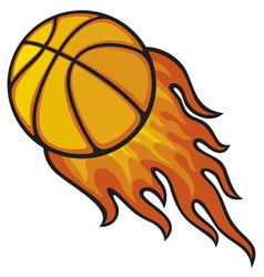 Basketball ball in fire vector
