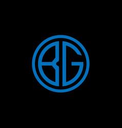 Bg monogram letter icon design on black vector