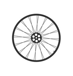 bicycle wheel icon vector image