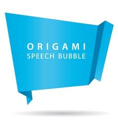 blue origami speech bubble vector image vector image